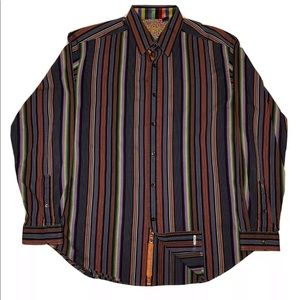 Robert Graham Men's Button Down Striped Shirt